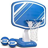 GoSports Splash Hoop PRO Pool Basketball Game, Includes Poolside Water Basketball Hoop, 2 Balls and Pump