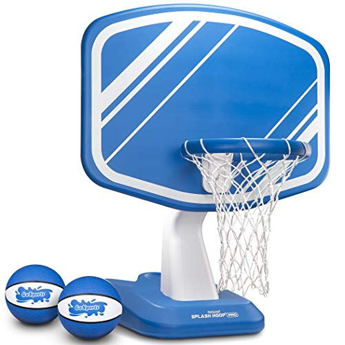 GoSports Splash Hoop Pro Pool Basketball Game, Includes Poolside Water Basketball Hoop, 2 Balls and...