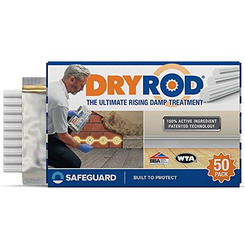 Dryrod Hochleistungs – Horizontalsperre – Stäbchen gegen aufsteigende Feuchtigkeit im Mauerwerk - WTA & BBA Zertifiziert (1 x 50)