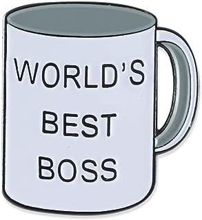 World's Best Boss Office Enamel Lapel Pin