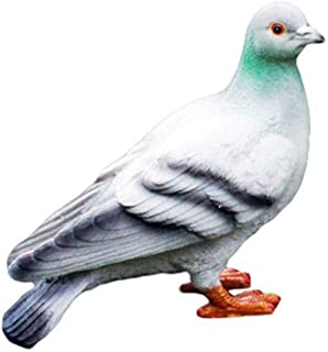 HongTeng Resin Dove Animal Sculpture Outdoor Patio Yard Decorations, Pigeon Garden Statue Lawn Ornaments (Color : A)