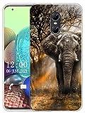 Sunrive Kompatibel mit Ulefone Gemini Hülle Silikon, Transparent Handyhülle Schutzhülle Etui Hülle (X Elefant)+Gratis Universal Eingabestift MEHRWEG