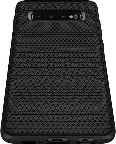 Spigen 605CS25799 Liquid Air Kompatibel mit Samsung Galaxy S10 Hülle, Stylisch Muster Design Handyhülle Schutzhülle Capsule Case Schwarz