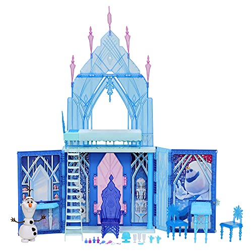 Disney Frozen 2 Elsa's Fold and Go Ice Palace, Castle Playset, Toy for...