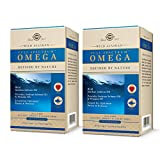 Solgar Wild Alaskan Full Spectrum Omega, 120 Softgels - Pack of 2 - Supports Heart, Brain, Bone and Skin Health - Provides Vitamin D3 - Rich Source of EPA & DHA - Non-GMO - 120 Total Servings