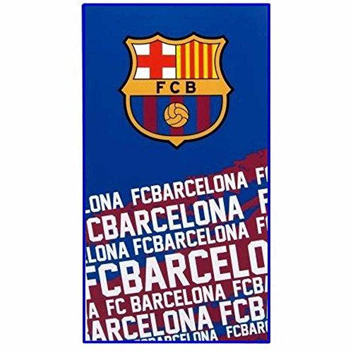Officiële FC Barcelona (La Liga) Voetbal Crest Bad & Strand Handdoek (100% Katoen 70cm x 140cm)