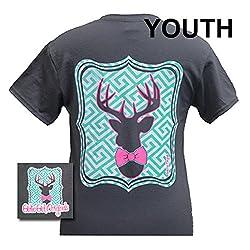 Girlie Girls Preppy Deer Short Sleeve T-Shirt - YOUTH