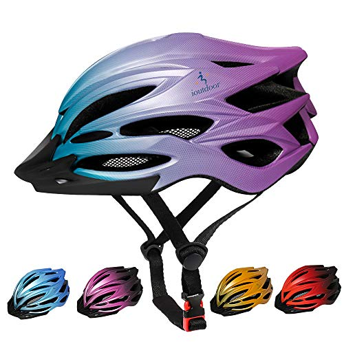 ioutdoor Premium Fahrradhelm, CE CPSC Zertifikat, Radhelm mit Abnehmbarer Sonnenblende und Insektennetz, Superleichter Verstellbarer Fahrradhelm