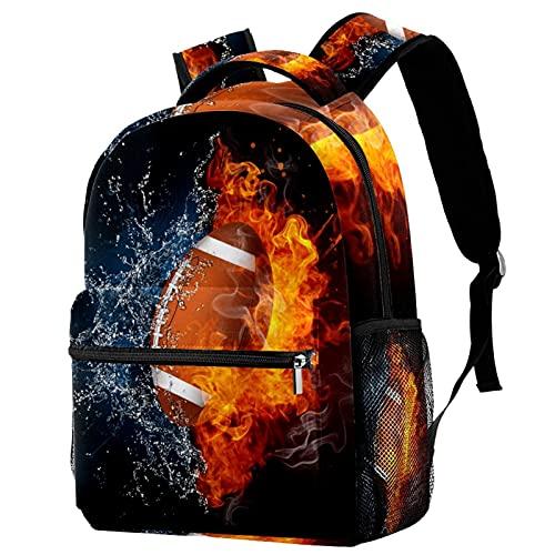 Freizeit Campus Reiserucksack, Rugbyball, Feuersport, Taschen mit Flaschenhalter für Mädchen und Jungen