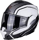 Casco moto Scorpion EXO-TECH TIME-OFF Pearl White/ Silver, Nero/Blu/Bianco, S
