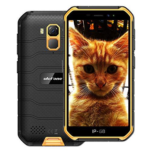 Ulefone Armor X7 (2020) 4G Android 10 Outdoor Handy Smartphones, 16GB Speicher 2GB RAM 4000mAh Akku Smart Button wasserdichte Kamera, WiFi GPS FM Orange