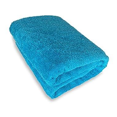 Goza Towels 100 Cotton Oversized Bath Sheet Towel (40 x 70 inches) (Aqua Blue)