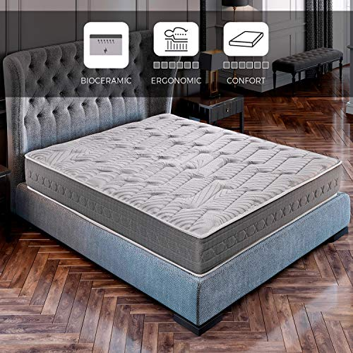 ROYAL SLEEP Colchón viscoelástico Carbono 135x190 firmeza Alta, Gama