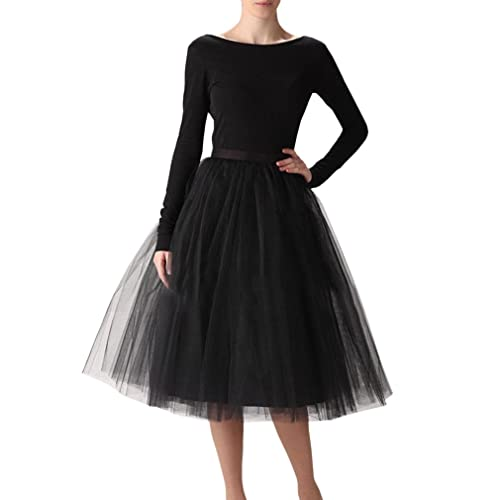 ad2f7a9746 Wedding Planning Women's A Line Short Knee Length Tutu Tulle Prom Party  Skirt