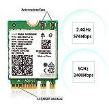 REKONG AX200NGW NGFF M.2 WiFi Card 802.11AX 3000Mbps 2.4Ghz 5Ghz Bluetooth 5.0 Wireless Card