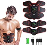 Abs Stimulator Muscle Stimulator, Protable Ab Trainer Muscle Toner Electric Abs Belt Workout...