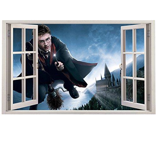 Customise4U Harry Potter Fenster Kinder Wandaufkleber Wandüber Wall Art Wand Tattoo (Harry Potter Window 70cm)