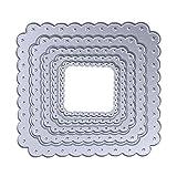 Demiawaking 5 Star quadrato Fustelle Stencil per DIY Scrapbooking album biglietti per goffratura modello (01)