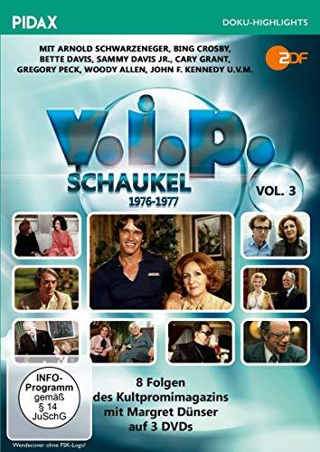 V.I.P.-Schaukel, Vol. 3 (1976 - 1977) / Weitere 8 Folgen des Kultpromimagazins mit Margret Dünser (Pidax Doku-Highlights) [3 DVDs]