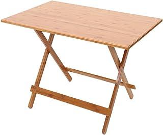 GHM Table portative Simple de Table de Salle à Manger de Tableau Pliant de Bambou de Bambou apprend des Tables Occasionnelles