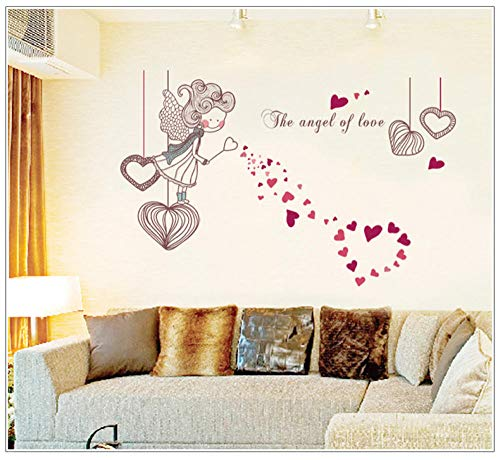Cooldeer Love Little Girl muursticker, verwijderbaar, transparante pvc-folie