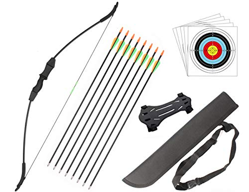 Outdoor Youth Recurve Bow and Arrow Set with Quiver Junior Archery Beginner...