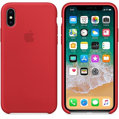 Capa Case Compatível Apple iPhone X 10 Silicone (Aveludado) (Microfibra) Box Lacrada (VERMELHO)