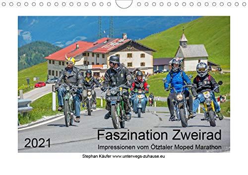 Faszination Zweirad - Impressionen vom Ötztaler Moped Marathon (Wandkalender 2021 DIN A4 quer)