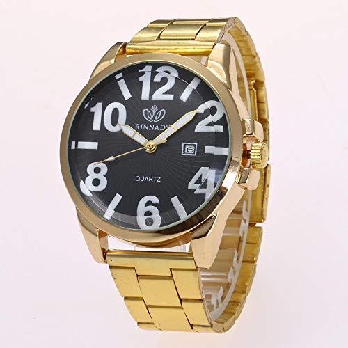Powzz ornament Smartwatches Los Relojes De Moda Más Vendidos Relojes De Moda Calendario Digital Clásico Cinturón De Acero De Aleación @ Negro