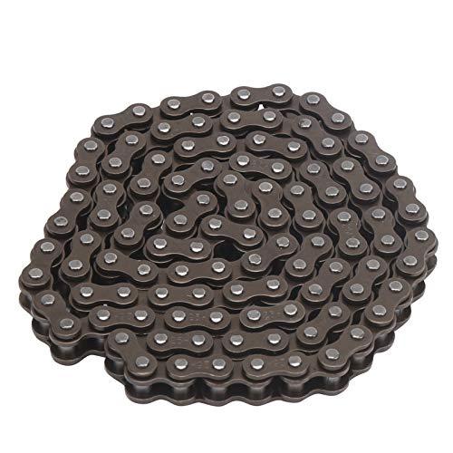VGEBY Cadena de Rodillos 25H, 106 eslabones, Cadena de Acero Resistente, Piezas de Repuesto para Scooter eléctrico, Mini Bicicleta