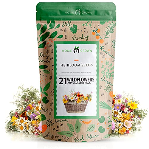 Wildflower Seeds   Mix of 21 Different Varieties of Non-GMO Wildflower Seeds