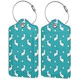 Feliz Alpaca personalizada cuero maleta de lujo conjunto de etiquetas de equipaje de viaje Accesorios