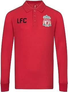 Liverpool Football Club Official Soccer Gift Boys Long Sleeve Polo Shirt