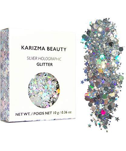 KARIZMA Silver Holographic Chunky Glitter