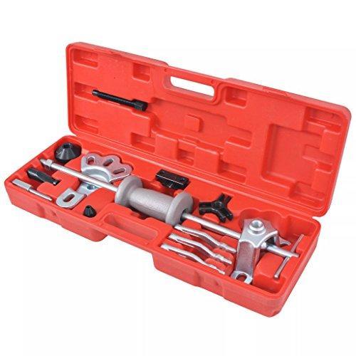 Luckyfu Set 9 DE coulisses pour Marteau à tête bombée 17 pièces Accessoires pour véhicules boîte à Outils du véhicule de réparation du véhicule