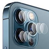 Zidwzidwei Protector de Lente de Cámara para Apple iPhone 12 Pro MAX [3-Pack], 9H Dureza, Anti-Rasguños HD sin Burbujas Vidrio Templado, Ultradelgado Apple iPhone 12 Pro MAX Protector Cámara Trasera