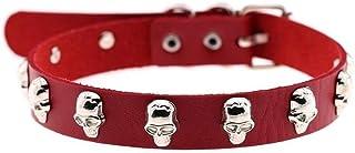 XIAOXINGXING halsband 16 färger rock punk stil cosplay PU halsband skelett vridmoment halsband hals (metallfärg: 22)