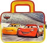 Pebble Gear Disney Pixar Cars - Bolsa de transporte universal de neopreno para niños en Disney Pixar, diseño de coches de 7 pulgadas (Fire 7 Kids Edition, Fire HD 8), cremallera duradera