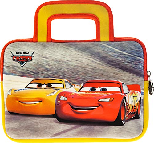 Pebble Gear Disney Pixar Cars Carry Bag - Universal Neoprene Kids carrry Bag in Disney Pixar Cars-Design, for 7' Tablets (Fire 7 Kids Edition, Fire HD 8 case), Durable Zip