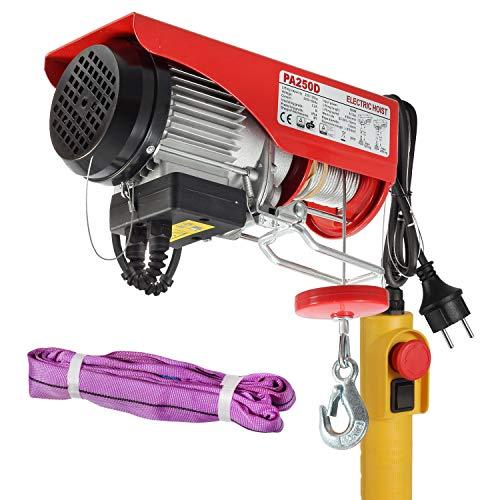 Partsam Polipasto eléctrico 125KG/250kg 550lbs 500W con control Para talleres taller de la...