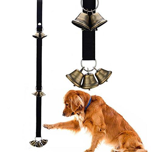 Messing Hund Glocken, Hund Tür Glocke für Töpfchen Training die Stubenreinheit Alarm, 7lauter Glocken mit verstellbarem Band für kleine medium Große Hunde