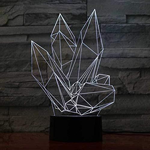Kristall 3D Nachtlicht Optische Illusion Lampe 20 Farbwechsel Mit Bluetooth Steuerung Und Smart Touch Tischlampe Deko Licht Stimmungslampe Besten Geschenke Für Kinder