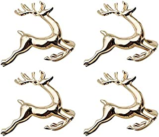 DK DKMG Napkin Rings, 6Pcs Elk Chic Napkin Rings for Place Settings, Wedding Receptions, Christmas, Thanksgiving and Home ...