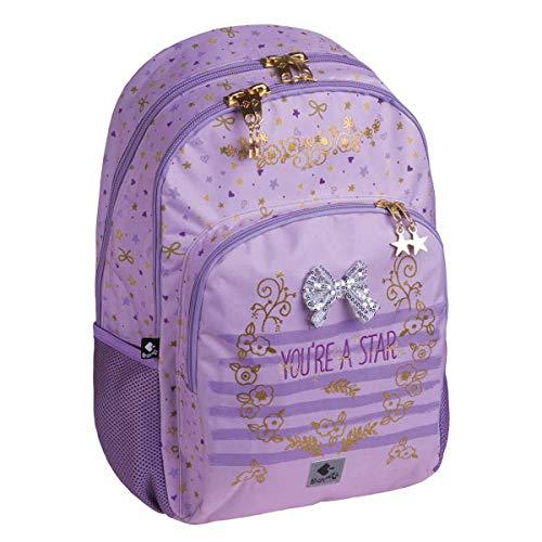 Busquets - Mochila Escolar Doble Star Busquets Violeta