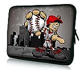 AUPET Baseball Boy 11.6' 12' 12.1' inch Neoprene Tablet Laptop Soft Sleeve Bag Cover Case for Samsung Google 11.6' Chromebook PC