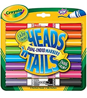 Crayola Heads 'n Tails Dual-Ended Markers 8/Pkg-Dark & Light Colors (B00178Q2BK) | Amazon price tracker / tracking, Amazon price history charts, Amazon price watches, Amazon price drop alerts