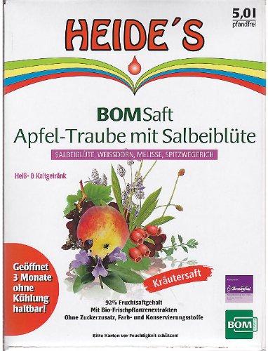 BOMSaft Apfel-Traubensaft mit Salbeiblüte, 5 Liter