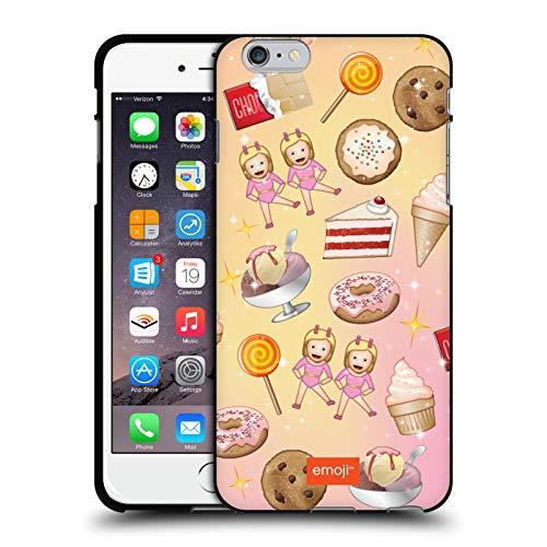Head Case Designs Ufficiale Emoji Dolcetti Pattern Cover Nera in Morbido Gel Compatibile con Apple iPhone 6 Plus/iPhone 6s Plus