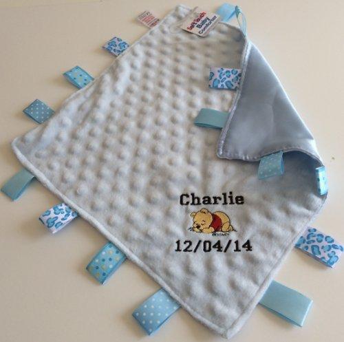 Couverture confort Taggie bébé Doudou/personnalisé avec Winnie l'Ourson cadeau idéal.