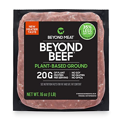 Beyond Meat from PlantBased Frozen oz lb. Package, Ground Beef Substitute, 16 Ounce